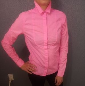 Kate Spade Saturday XS Hot Pink Button Up Blouse